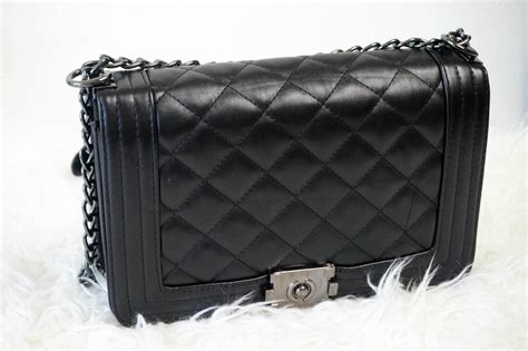 Tas Chanel Boy Flower chanel inspired quilted chain bag beautyopinie