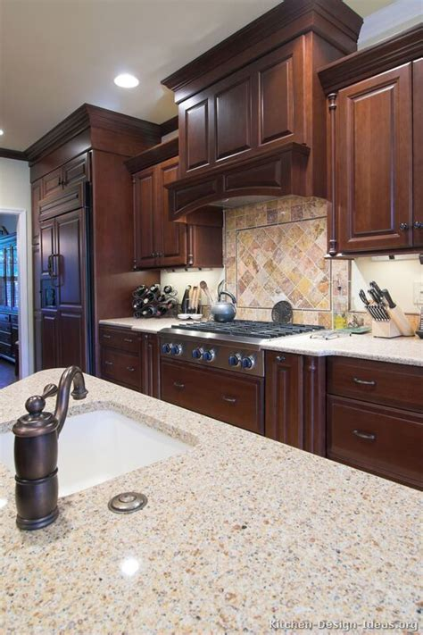 kitchen backsplash cherry cabinets pictures of kitchens traditional wood kitchens