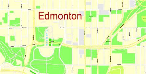 printable edmonton area map edmonton printable map canada exact map city plan level