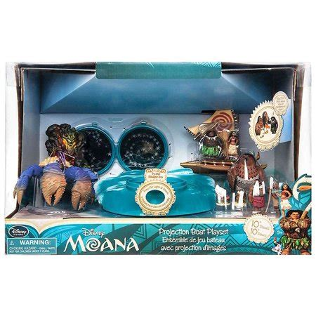 moana figures with boat disney moana moana projection boat playset walmart