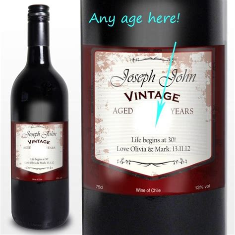 wine birthday gifts 40th birthday gifts personalised wine find me a gift