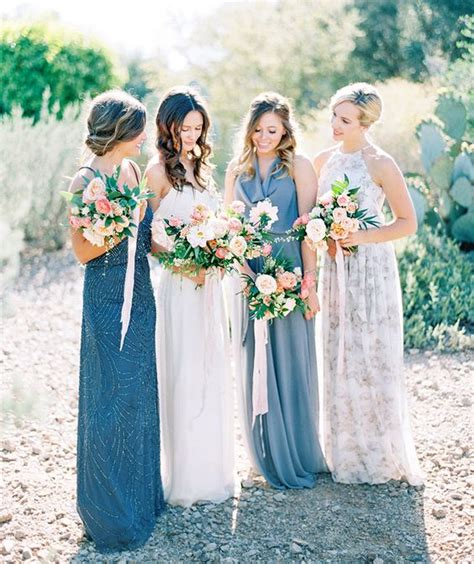 Navy Black Flower Mix 10 ways to nail the mix and match bridesmaid look