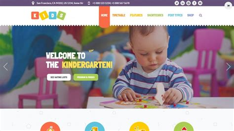 wordpress themes kindergarten free 25 colorful lovely youthful wordpress themes for