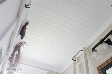 Plank Boards For Ceilings How To Plank A Bathroom Ceilingfunky Junk Interiors