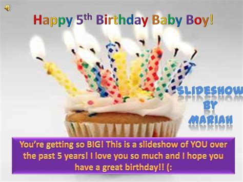 Happy Birthday Baby Boy Wishes Happy 5th Birthday Baby Boy Slideshow