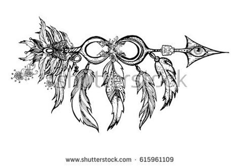 apache tribal tattoos feather arrows stock images royalty free images vectors