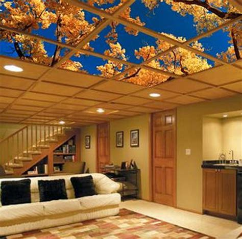 Drop Ceiling Choices 20 Cool Basement Ceiling Ideas Hative
