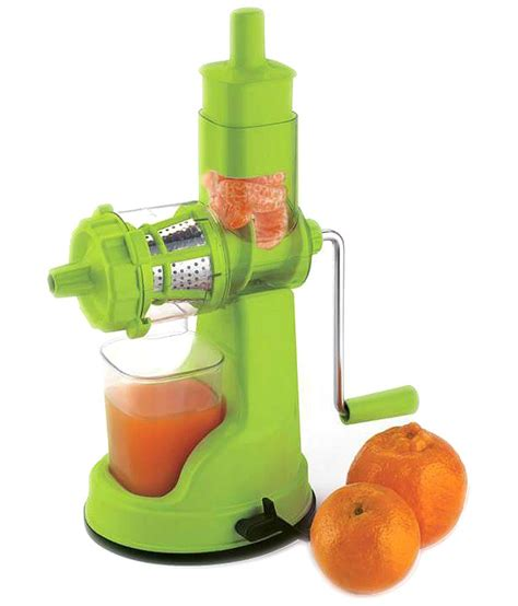 Fruit Juicer floraware fruit and vegetable green colour juicer with steel handel buy at best price in
