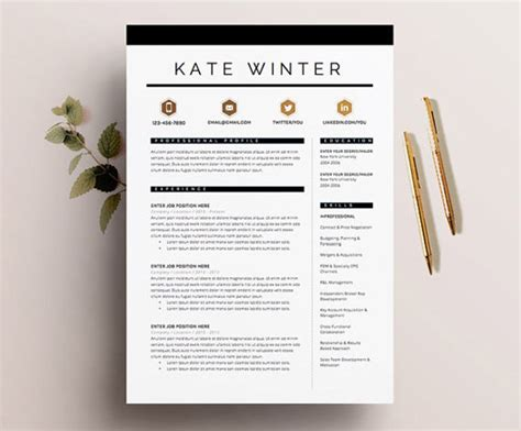 Graphic Design Resume Template by 8 Creative And Appropriate Resume Templates For The Non