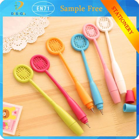 japanese promotion gifts wholesale colorful japanese stationery badminton racket gel ink pens for