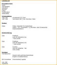 resume format presentation d un cv en francais