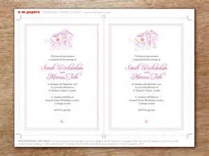 Hochzeitseinladung Nat Rlich by Hochzeitseinladung Vorlage Mumbai