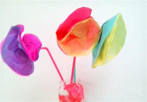 Tissue Paper Flowers With Children - craft tissue paper flowers get crafty