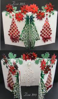 3d Christmas Tree Card Template Wpc Cutting File Templates