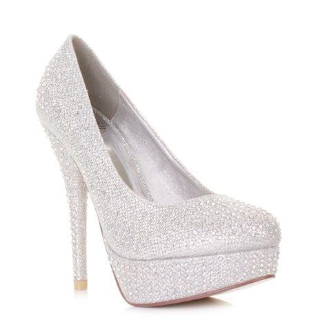 prom high heels womens diamante mesh glitter platform high heel prom
