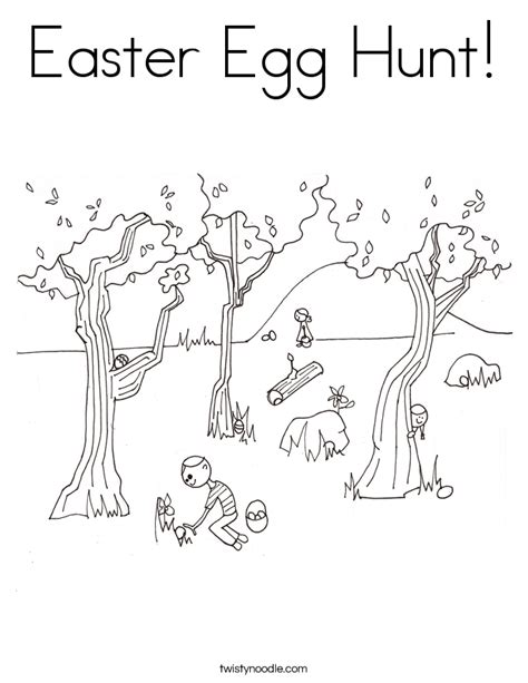 coloring pages easter egg hunt easter egg hunt coloring page twisty noodle