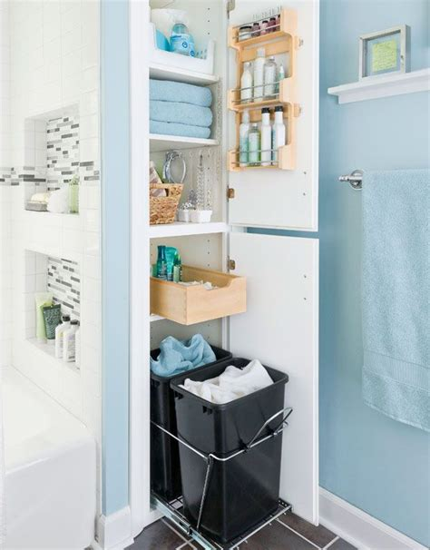 how to make storage in a small bathroom five great bathroom storage solutions