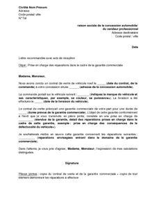Exemple De Lettre Commerciale Lettre Type Commerciale