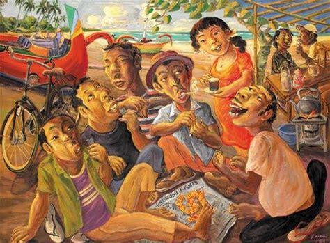 main gaple  indonesie schilderij indie