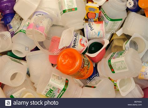 8 Uses For Yoghurt Pots by Pile Of Waste Plastic Bottles And Yogurt Pots Food