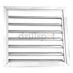 fan shutter 30 in white painted aluminum attic fan louver amazon com