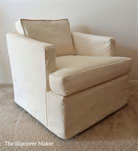 A Slipcover by Canvas Slipcover For Henredon Chair