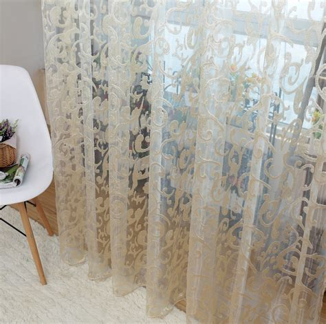 european sheer curtains aliexpress com buy european style jacquard leaf design