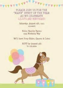 love the wording pony party pinterest