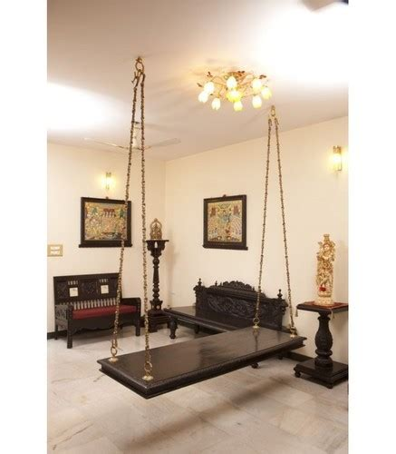 beautiful living room teak wood swing jhula  living
