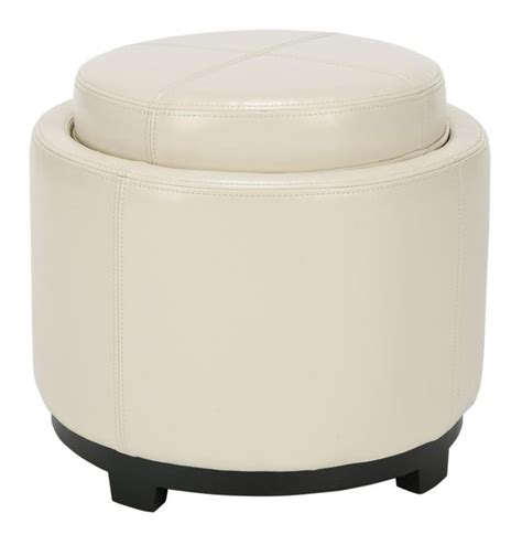 round ottoman with tray single tray round ottoman with storage where the heart