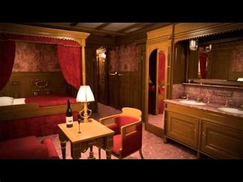 first class bedrooms on the titanic titanic ii first class cabin youtube