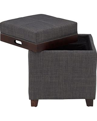 fabric storage ottoman with tray fabric storage ottoman with tray interior design ideas