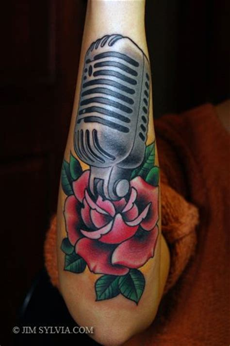 tribal microphone tattoo arm microphone by jim sylvia