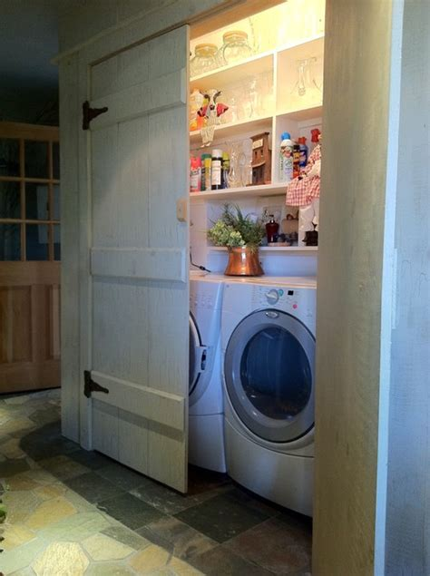 l shaped garage and outbuilding with utility room and gym remodelaholic 25 ideas for small laundry spaces