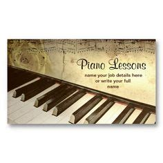 Piano Greeting Card Templates by 1000 Images About Piano Business Cards On