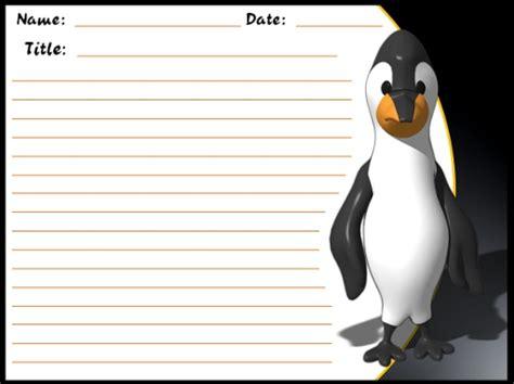 penguin writing paper penguin writing paper www imgkid the image kid has it