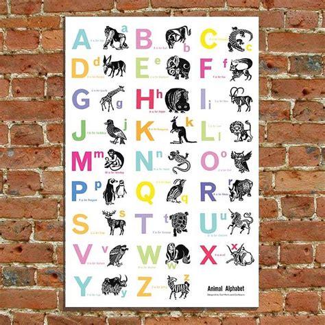 printable alphabet chart no pictures alphabet print by cute clocks notonthehighstreet com