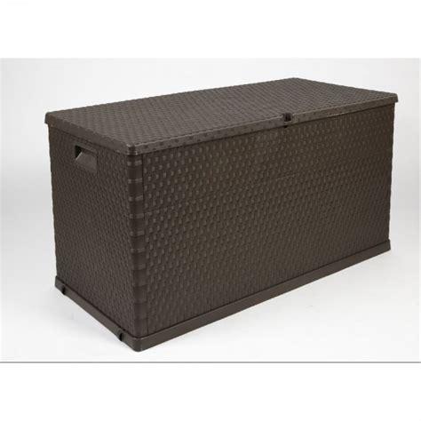 coffre de jardin gifi 2720 coffre de rangement 420 l marron imitation osier coffre