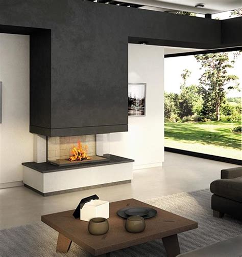 sided fireplaces sculpt fireplace collection a new dimension in fireplace
