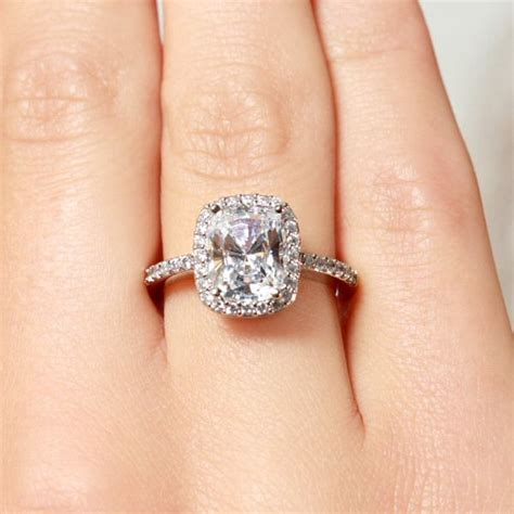 2 5 carat cushion cut halo engagement ring we how