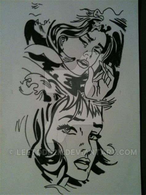 design art tattoo pop art tattoo design by leetodd2k on deviantart