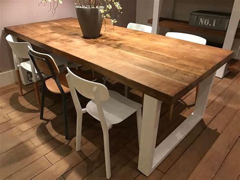 table blanc et bois table bois kreabel wraste