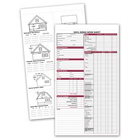 Business Forms Vinyl Siding Work Sheet 257 By Deluxe Siding Quote Template