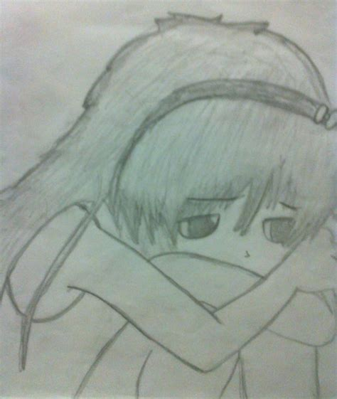 imagenes a lapiz tristes anime triste by selene vazquez on deviantart