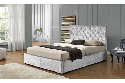 king size ottoman storage beds chatsworth ottoman storage crushed silver velvet bed