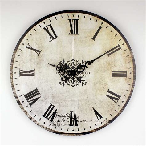 large silent wall clock