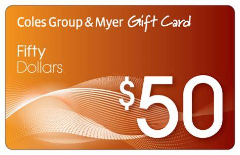 Coles Myers Gift Cards - win a 50 coles group myer gift card gold coast tickets
