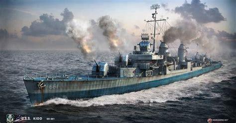 usn battleship vs ijn battleship the pacific 1942â 44 duel books uss kidd fletcher class destroyer a render by world of