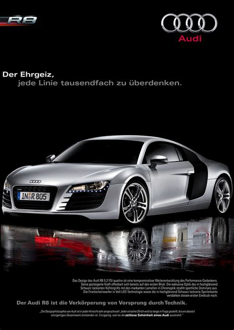 Audi R8 Poster by Audi R8 Advertisement Poster On Behance