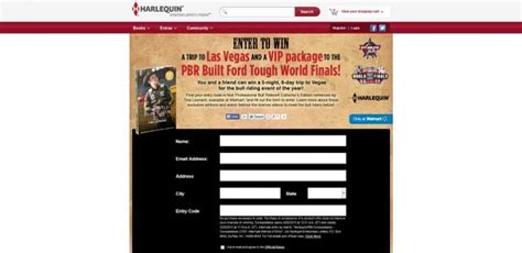 Pbr Sweepstakes 2017 - harlequin com pbrsweepstakes harlequin pbr sweepstakes